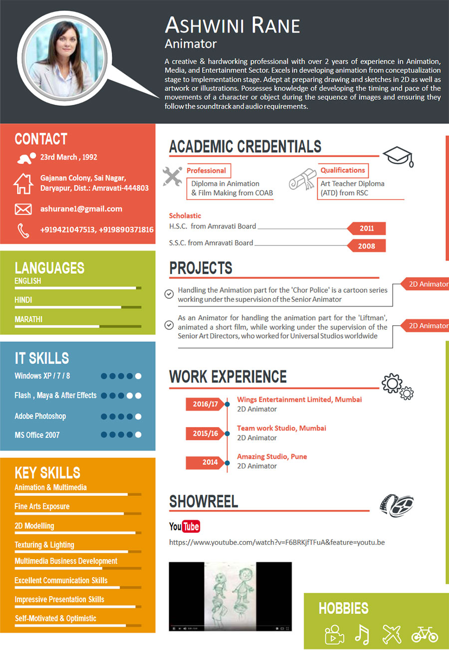 visual resume combo services